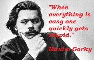 What did Maxim Gorky thought about the true face of the Russian Revolution